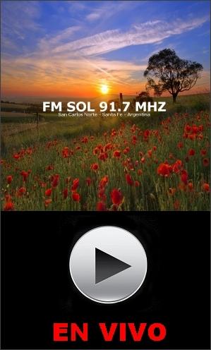 FM SOL 91.7 MHZ - SAN CARLOS NORTE - SANTA FE - ARGENTINA (EN VIVO)